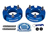 Supreme Suspensions - Silverado 1500 Lift Kit Front 2'' Leveling Lift Kit for [2007 - 2018 Chevy Silverado 1500] and [2007 - 2018 GMC Sierra 1500] BLUE Aircraft Billet Strut Spacers