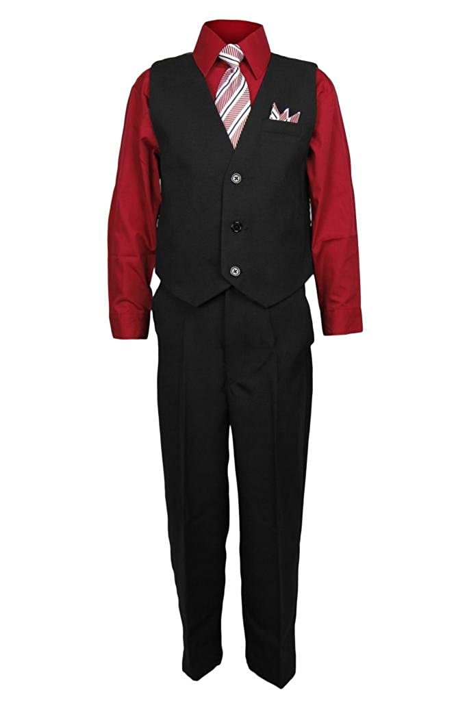 Vangogh Boys 4 Piece Vest Set with Matching Tie