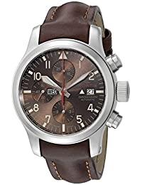 Fortis Watch Men's 656.10.18 L.18 Aeromaster Dawn Chronograph Analog Display Automatic Self Wind Brown Watch