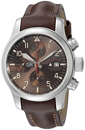 Fortis-Mens-6561018-L18-Aeromaster-Dawn-Chronograph-Analog-Display-Automatic-Self-Wind-Brown-Watch