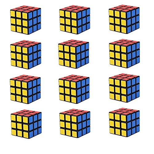 Lebbeen Mini Cubes Party Favors Cube Puzzle (12 Pack)