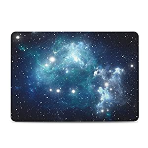 iCasso Macbook Retina 13 inch Case Rubber Coated Soft Touch Hard Shell Protective Cover For Macbook Pro 13 Inch Retina (No CD-ROM )Model A1425/A1502 (Blue Nebula)