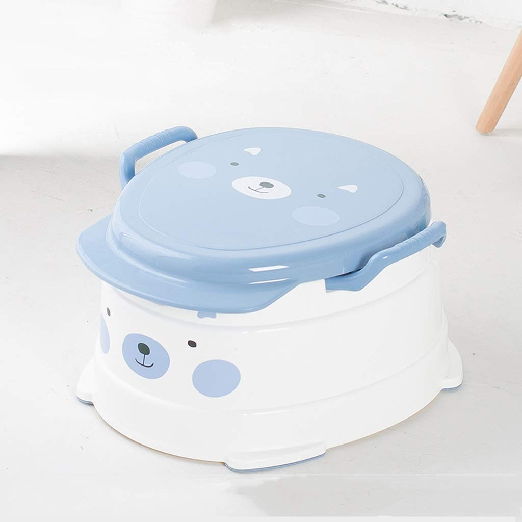 XWJC Children's Toilet Large Male Baby Toilet Toilet Baby Child Female Potty Toilet Urinal 1-8 Years Old (Color : Blue)