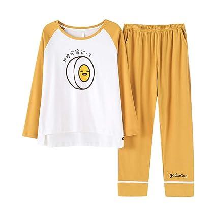 Pijama ropa de dormir camisón puede usar pijamas de moda de las señoras de algodón de