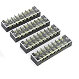Suyep 8 Positions Dual Rows 600V 25A Wire Barrier Block Terminal Strip TB-2508 (5)