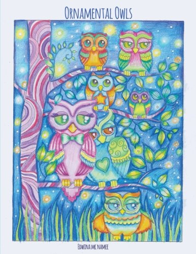 Ornamental Owls: owl coloring book for adults
