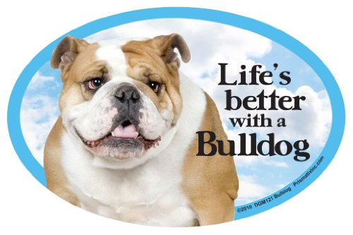 - Prismatix Decal Cat and Dog Magnets, Bulldog