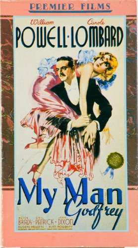 Limited Edition Artwork (2 VHS Movie Tapes - 1936 - My Man Godfrey : William Powell & Harvey : James Stewart - Like New - Original Sleeves & Artwork - Details Below - Limited Edition - Collectible)