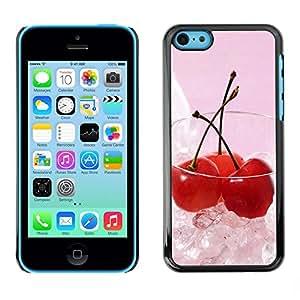 Slim Design Hard PC/Aluminum Shell Case Cover for Apple Iphone 5C Fruit Macro Ice Cherry / JUSTGO PHONE PROTECTOR