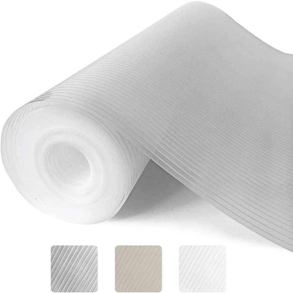 Gorilla Grip Ribbed Top Drawer and Shelf Liner, Non Adhesive Roll, 12 Inch x 20 FT, Durable and Strong, Grip Liners for Drawers, Shelves, Kitchen Cabinets, Storage, Kitchens and Desks, Clear Ribbed