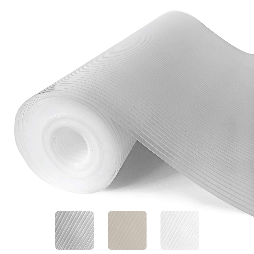 Gorilla Grip Ribbed Top Drawer and Shelf Liner, Non Adhesive Roll, 20 Inch x 20 FT, Durable and Strong, Grip Liners for Drawers, Shelves, Kitchen Cabinets, Storage, Kitchens and Desks, Clear Ribbed