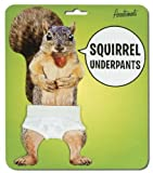 Genuine Squirrel Underpants. 9 Waist White Cotton Jockey-Type Drawers with an Elastic Waist by Accoutrements