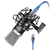 Neewer NW-7000 USB Condenser Microphone Kit for Windows and Mac with Metal Microphone Shock Mount, Ball-type Anti-wind Foam Cap, USB Audio Cable for Professional Studio Broadcasting & Recording(Black)