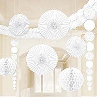 Amscan Damask Wedding Decorating Kit (9 Piece) 15.5 x 10.5 White