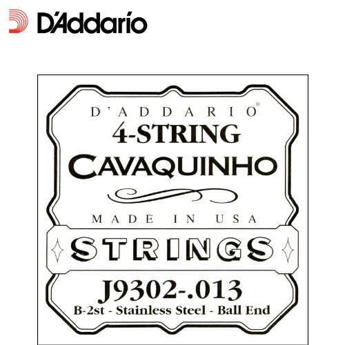 D'Addario J9302 Plain Steel Single Cavaquinho String, .013