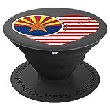 Distressed Arizona Flag Heart Design USA