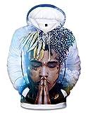 SIMYJOY ENJOY THE SIMPLICITY SIMYJOY Unisex RIP Xxxtentacion Hoodie 3D Print Street Rap Sweatshirt Cool Hip Hop Pullover M