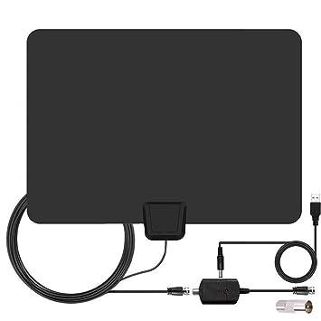 Antena Televisor, Amplificador Indoor HDTV Antena Digital TV Antena Interior 50 Millas Reichweite Amplificador Señal