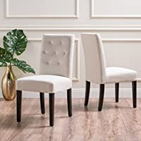 Gresham Posh Fabric Dining Chair (Set of 2) (Ivory)