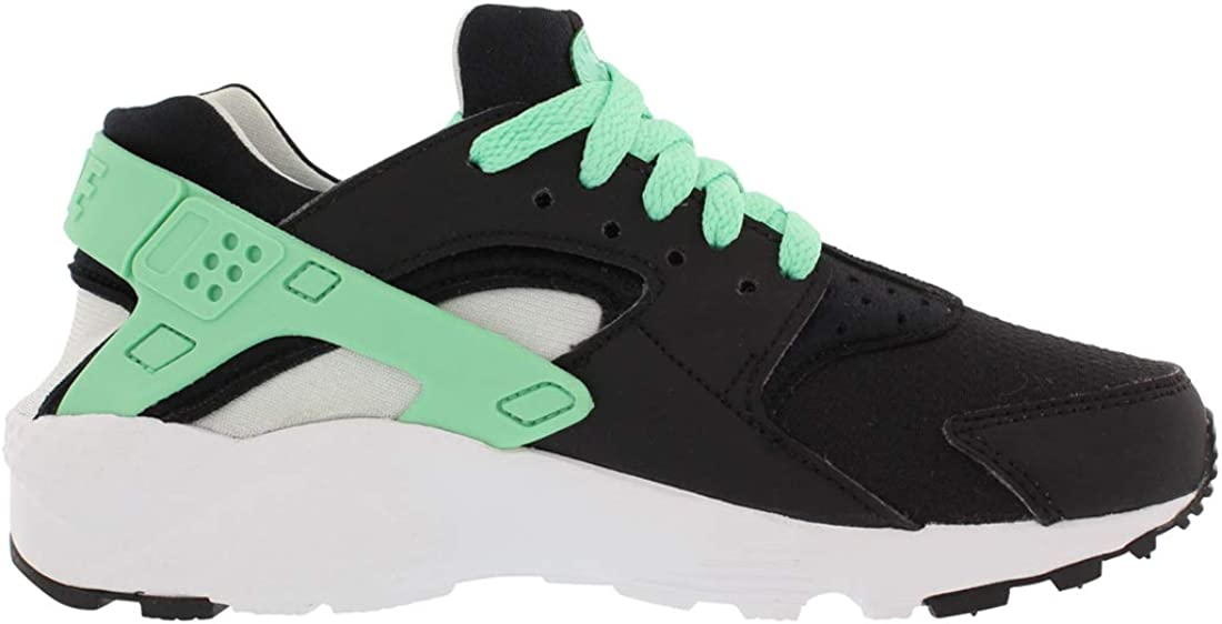 Nike Huarache Run Gs, Boys' Low Trainers White/Green/Black