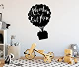 Adventure is Out There Hot Air Balloon - Wall Decal - 32'' high x 20'' wide