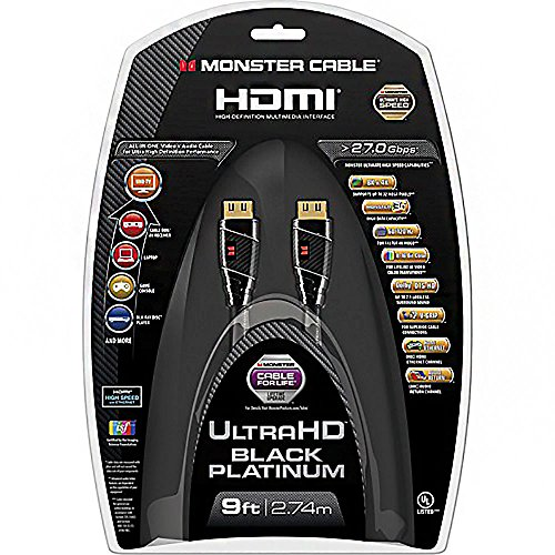 Monster Cable MC BPL UHD-9 Black Platinum HDMI Cable
