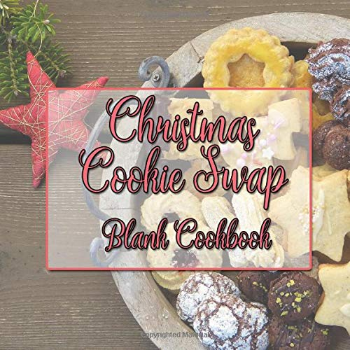 Christmas Cookie Swap Blank Cookbook by Kangalang Books
