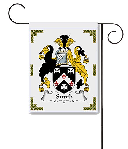 Carpe Diem Designs Smith Coat of Arms/Smith Family Crest 11 X 15 Garden Flag - Made in The U.S.A. ()