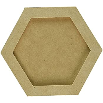 Amazon Com Freahap Hexagon Shaped Wall Picture Frame Mdf