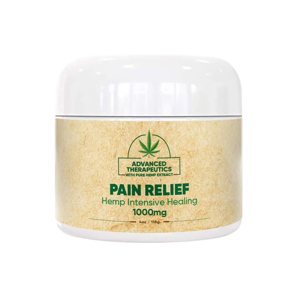 1000 MG 4 Ounce Hemp Cream for Fast Pain Relief - Double The Size and Power of All Other Arnica Cream Infused with 1000MG of Hemp Oil for Pain Relief of Knee Pain, Back Pain by Advanced Therapeutics HEMP CREAM FOR PAIN