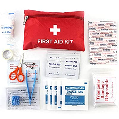 YCANDOIT Tourism Outdoor Trauma Medical Emergency Medical Kit Portable, Car Small Square Bag Household Medicine Kit