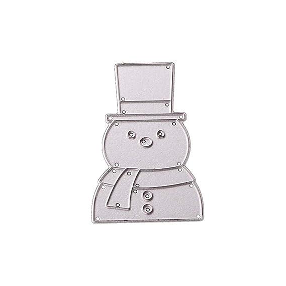 Feida - Troqueles de corte, diseño navideño de Papá Noel de Navidad, troqueles de corte de metal, tarjetas de papel de scrapbooking Snowman: Amazon.es: ...