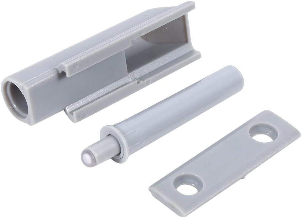 Sistema de Amortiguador de Puerta Abierta 10 Piezas Caja de ABS Bisagra de Caj/ón del Gabinete de Puerta Empuje para Abrir Sistema Amortiguador Amortiguador Captura Punta de Pl/ástico