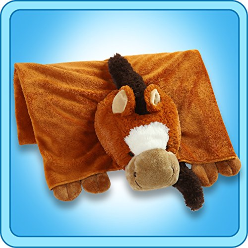 The Original My Pillow Pets Horse Blanket (Chestnut brown)