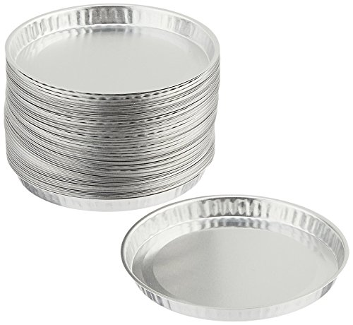 (EAGLE THERMOPLASTICS D-123-50 Disposable Aluminum Weighing and Drying Pans, 2-3/4