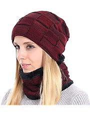 BOYOU Unisex Uomo/Donna Inverno Caldo Cappello Knit All'aperto Peluche Ispessimento Maglia Cappello da Sci per l'inverno