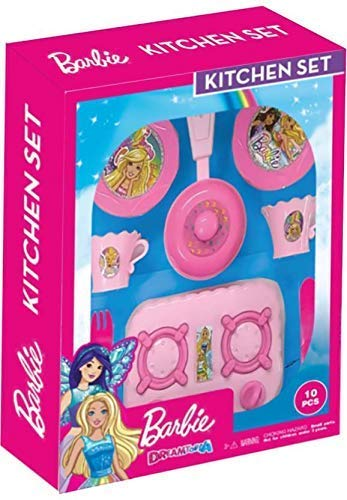 Buy Barbie Kitchen Play Set For Kids Role Play Toy Online At Low