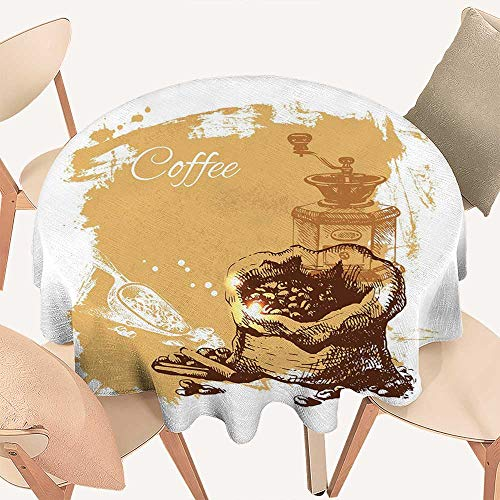 Amazon.com: Haommhome Coffee Fabric Tablecloth Vintage