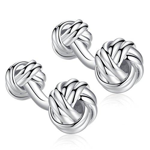 Honey Bear Twist Knot Cufflinks - Stainless Steel for Men