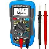 Digital Multimeter, HOLDPEAK 36C Manual-Ranging Multi Tester for Measuring Voltage, Current, Resistance, Capacitance, Diode, Transistor and hfE of 2000 count (Blue)