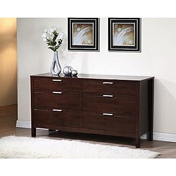 Elegant Dark 6 drawer Tall Dresser. Amazon com  Elegant Dark 6 drawer Tall Dresser  Baby