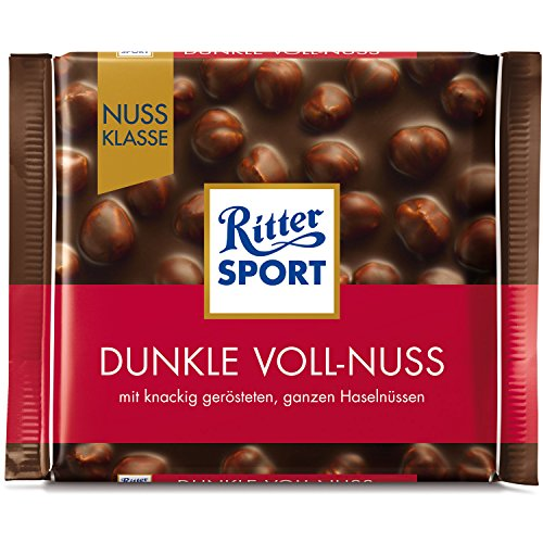 Ritter Sport nut Class Dark Whole Hazelnuts chocolate (10 x 100g)