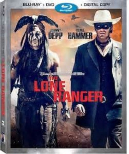 THE LONE RANGER Blu-ray+DVD+Digital Copy Movie COMBO PACK Set (Johnny Depp and Armie Hammer)