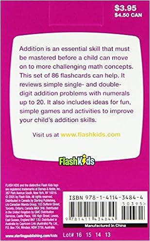 Addition (Flash Kids Flash Cards): Flash Kids Editors ...