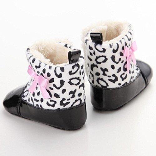 Koly Bebé infantil del niño zapatos del pesebre la nieve suavemente único Prewalker (0 ~ 6 meses, Negro) Negro
