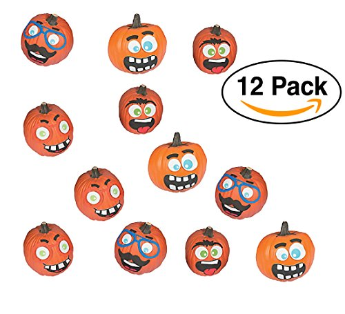 Halloween Funny Face Pumpkin Decorating Premium Craft Kit Foam Stickers - 12 Pumpkins