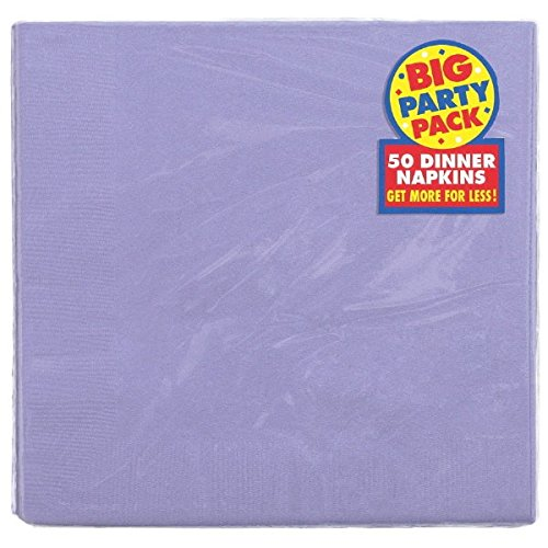 Big Party Pack 2-Ply Dinner Napkins | Purple Hydrangea | Pack of 50 | Party Supply