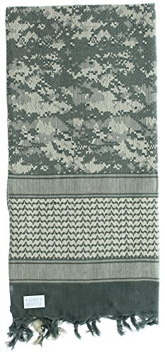 Premium Heavyweight Shemagh Scarf with ARMY UNIVERSE Pin - ACU Digital Camouflage