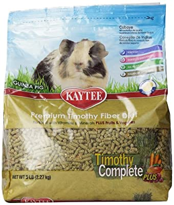Kaytee Timothy Hay Complete Plus Fruits and Vegetables Guinea Pig Food, 5-lb bag from Kaytee
