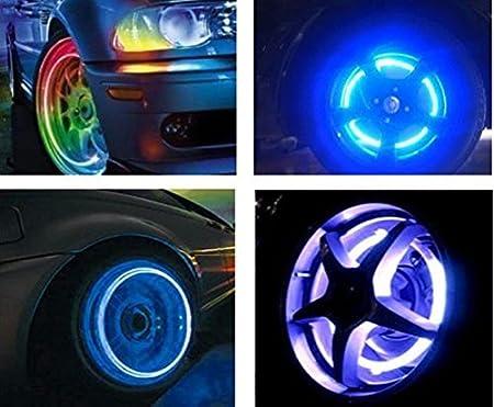 Pesp 2pcs Auto Wheel Tire Light LED Lamp Wheel Valve Cap Light for Car Bike Bicycle Motorcycle (Blue)